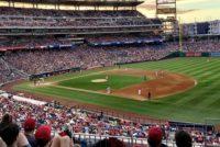 Stadion baseball tło