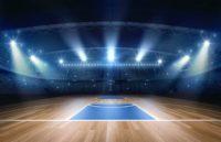 Tło - stadion koszykarski