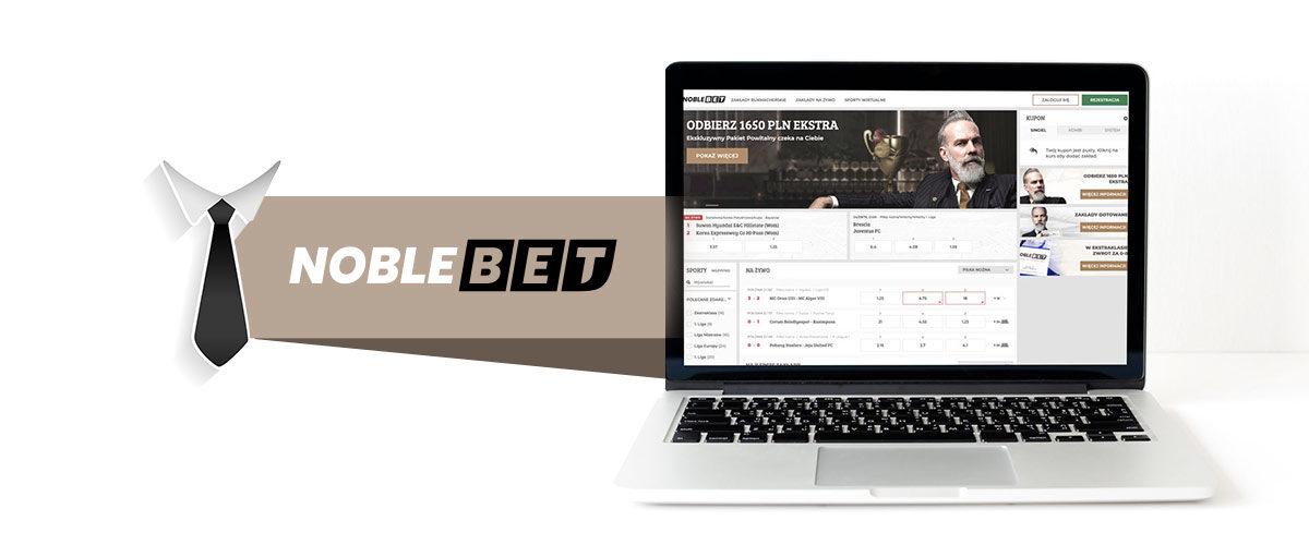 Strona internetowa bukmachera Noblebet