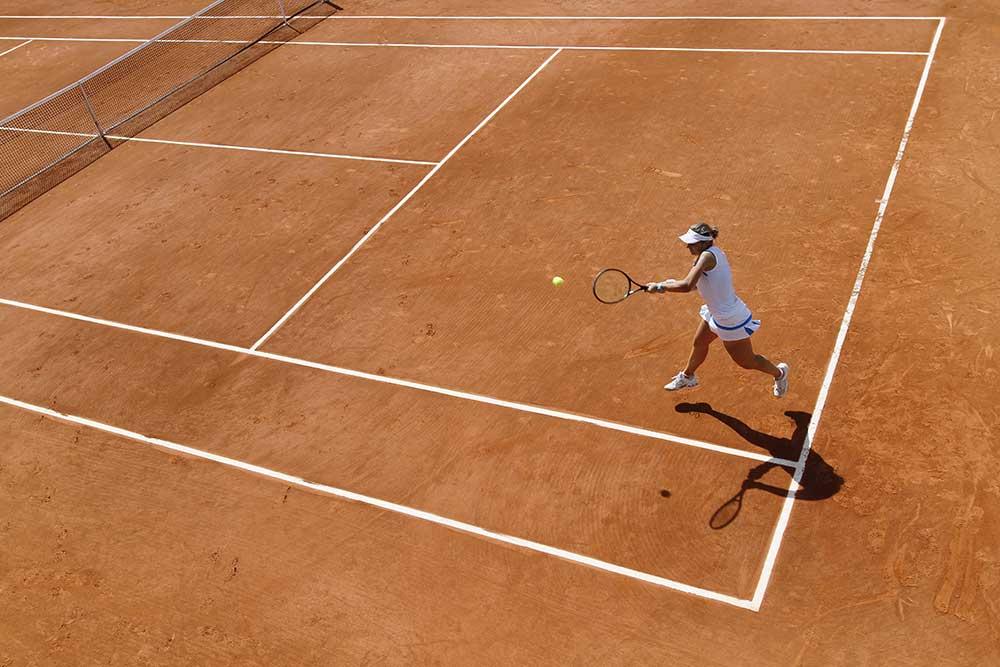 Kort tenisowy - tło